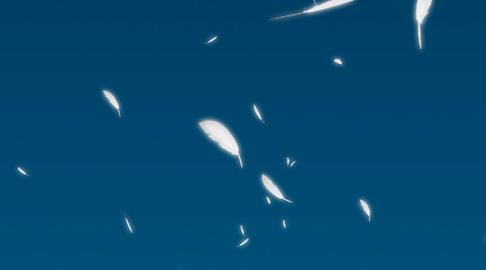 Wing inSKY shuttlecock flutters Stock Video Footage