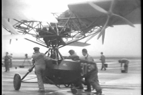 Curtiss Bleecker Helicopter Makes Ill Fated Voyage stock footage