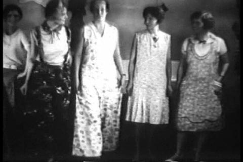 Latest Fashions Of 1930 On Display In Chicago, Ill stock footage