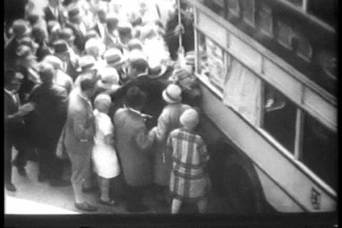 A terrible heat wave hits Berlin Germany in 1930 Footage