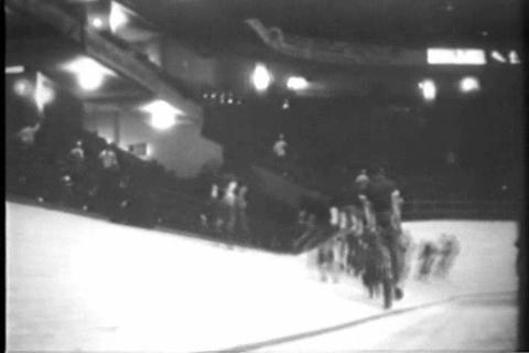 An Indoor Bicycle Race In 1929 stock footage