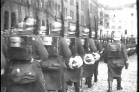 Belgian troops leave Germany after World War One i Live Action