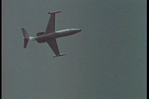 The Paris air show of 1967 features the take off o Footage