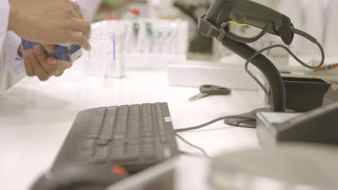 Pharmacist in pharmacy Footage