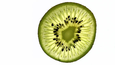 Juicy Kiwi Slice stock footage