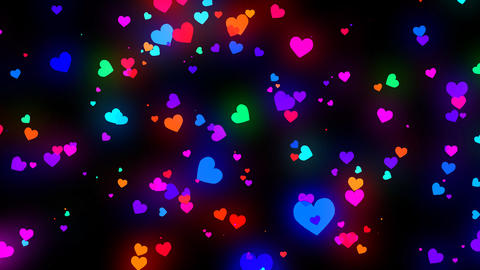 Loopable Shooting Heart Colorful Alpha HD stock footage