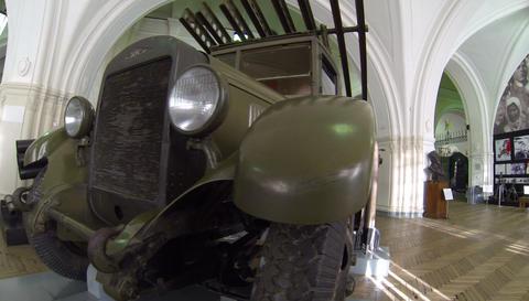 The missile launcher Katyusha 2.7K Footage