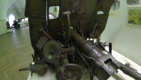 Military artillery gun 2.7K Live Action
