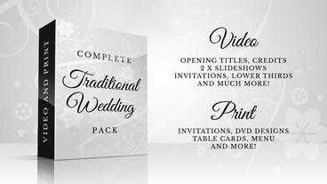 Complete Traditional Wedding Pack stock footage