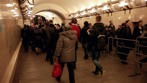 Crowd of People. Subway Footage