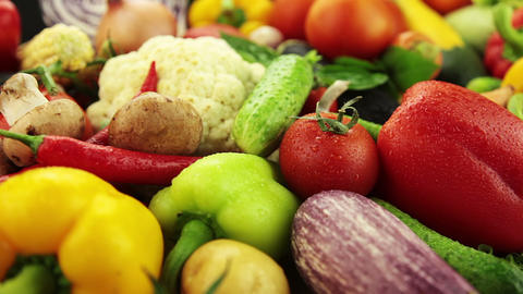 Lots Of Vegetables stock footage