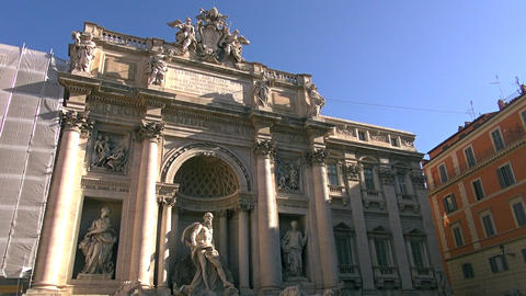 Trevi Fountain is the largest Baroque fountain in Live Action