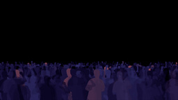Dancing Crowd Of People Animation Stock Footage stock footage