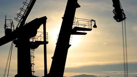 port crane Footage
