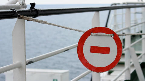 stop sign on the ship Live Action