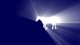 galloping horse with volumetric light effect Animation