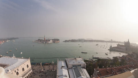 San Giorgio Maggiore island top view from San Marc Footage