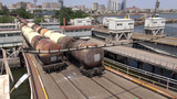 Cargo vessel and oil trains Footage