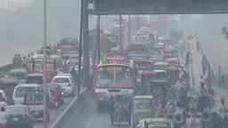 Bridge in Lahore traffic jam, Pakistan Footage