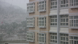 Snow On The Campus Of A Chinese University Footage
