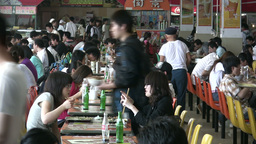 China, canteen, students eating lunch Footage
