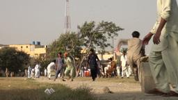 Cricket field in Karachi, Pakistan Footage