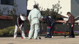 Gateball In Japan, Popular Game For Seniors stock footage