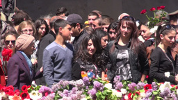 Genocide remembrance day in Armenia Footage