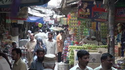 Mysterious looking bazaar in Pakistan Footage