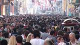 Istiklal Avenue, Istanbul shopping street on weeke Footage