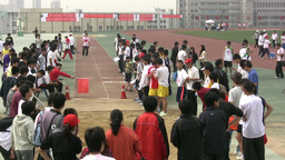 Longjump sports competition in China Footage