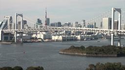 Rainbow bridge in Tokyo Footage