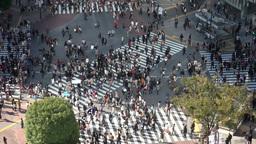 Shibuya crossing, people in Tokyo Japan Footage