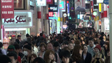Shopping at night in Japan Footage