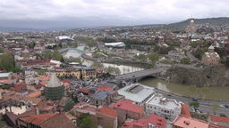 Skyline Of Tbilisi, Georgia's Capital stock footage