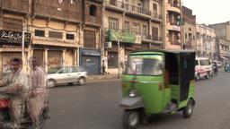 Streetview of Lahore, traffic in Pakistan Footage