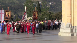 Tbilisi procession Footage