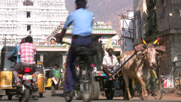 Traffic in Indian street Footage