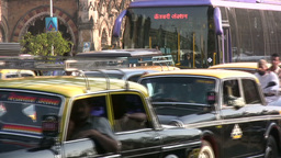 Traffic Jam In Mumbai stock footage