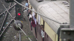 Train in Mumbai India Footage