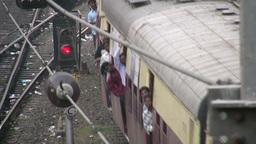 Train in Mumbai India Footage