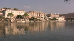 Udaipur Palace In India stock footage