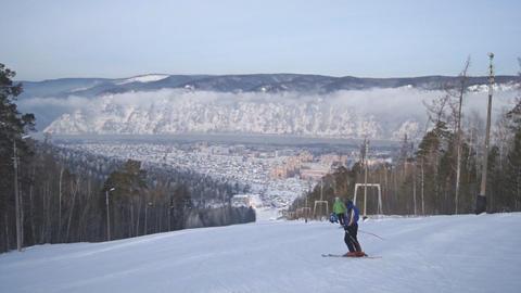 Divnogorsk Skiing 04 Footage