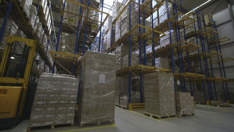 Timelapse Of People Working In Warehouse stock footage
