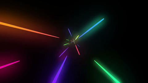 Loopable Colorful Neon Line B HD stock footage
