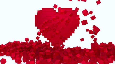 Heart from cubes Animation