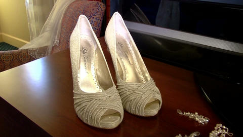Bridal Shoes and Jewelry Footage
