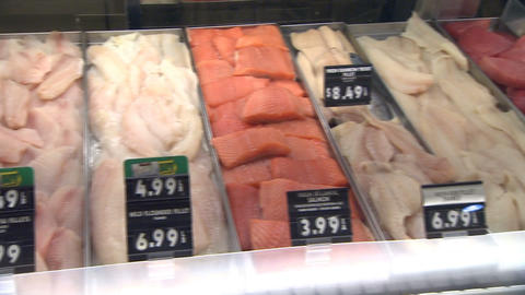 Grocery Store Fish stock footage