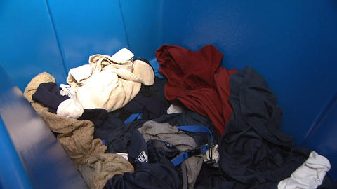 Laundry Large Load of Clothes Footage