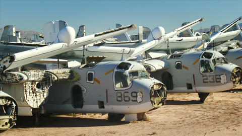 Military Aircraft Boneyard stock footage